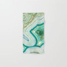 Sea Spray Crystal Agate Slice Hand & Bath Towel