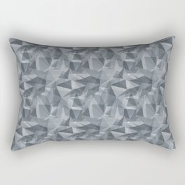 Abstract Geometrical Triangle Patterns 3 Benjamin Moore 2019 Trending Color Black Pepper Gray 2130-4 Rectangular Pillow