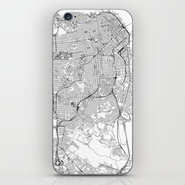 San Francisco White Map iPhone Skin