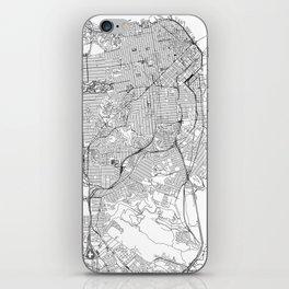 San Francisco White Map iPhone Skin