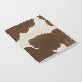 Dark Brown & White Cow Hide Notebook