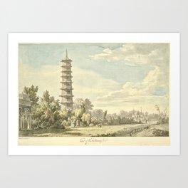 Pagoda at Kew Art Print