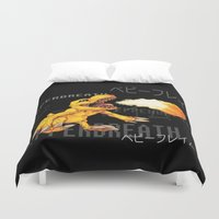 digimon Duvet Covers featuring Pepperbreath by Jabburwocky