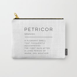 Petricor Definition Carry-All Pouch