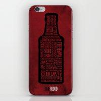 true blood iPhone & iPod Skins featuring True Blood by Luke Eckstein