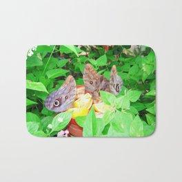Tropical Owl Butterflies Bath Mat