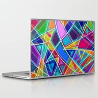 stained glass Laptop & iPad Skins featuring Stained Glass by gretzky