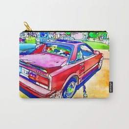 Beautiful Detailed Vintage Car Carry-All Pouch