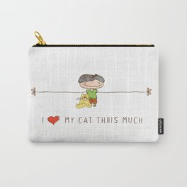 I love my cat boy Carry-All Pouch