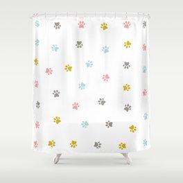 Cat feet pattern Shower Curtain