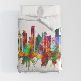 Vancouver Canada Skyline Comforters