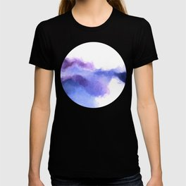 Purple Sky, White Light - abstract T-shirt