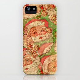 Psychedelic Santa iPhone Case