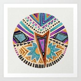 Tribal Folk Icon Art Print