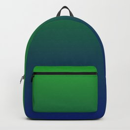 Cute Green And Blue Gradient Design Backpack