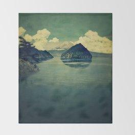 Distant Blues Throw Blanket