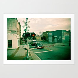 Railroads and State Lines Art Print