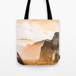 Yosemite Valley Burn - Sunrise Tote Bag