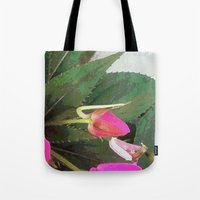 hot pink Tote Bags featuring Hot Pink by Glenn Designs
