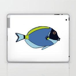 Powder Blue Tropical Fish Illustration Laptop & iPad Skin