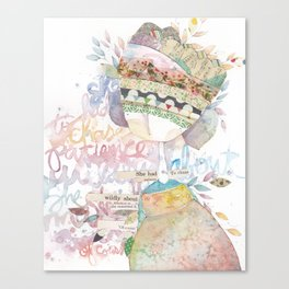 wildly about. Canvas Print