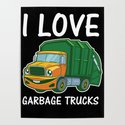 I Love Garbage Rubbish Trash Trucks Climate Earth Day Kids Eco Gift by ornack
