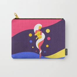 Funky Universe Colorful Lady Carry-All Pouch