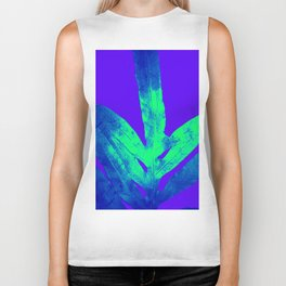 Blue Ultraviolet Green Earth Day Fern Biker Tank