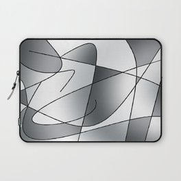 ABSTRACT CURVES #2 (Grays) Laptop Sleeve