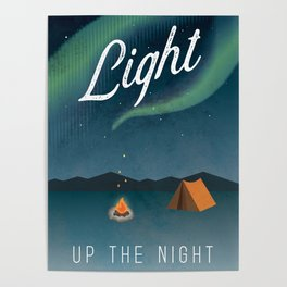 Light Up the Night Adventure Poster Poster