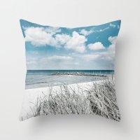 brazil Throw Pillows featuring BRAZIL by Iris Lehnhardt