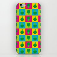 popart iPhone & iPod Skins featuring Popart Broccoli by XOOXOO