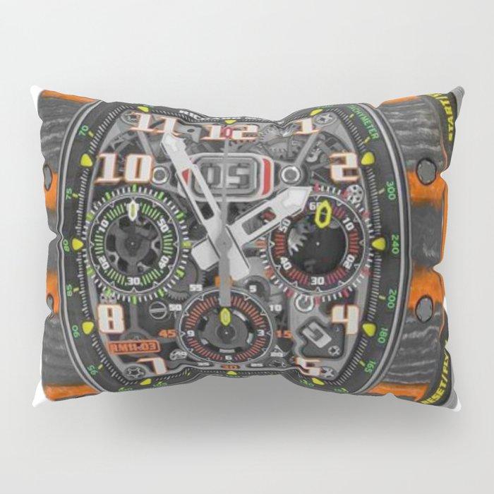Richard Mille 11-03 MCL Orange Quartz and Carbon TPT Flyback Chronograph 50MM Pillow Sham