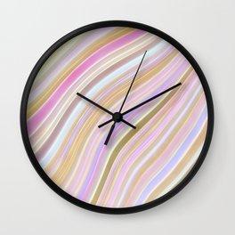 Wild Wavy Lines 24 Wall Clock
