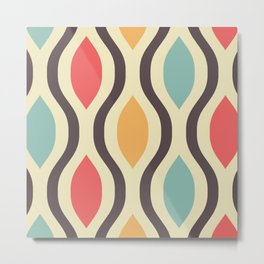 Pretty Ogee Pattern 394 Metal Print