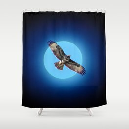 Moments - Full moon Shower Curtain