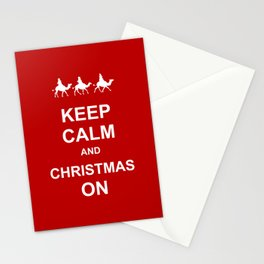 Keep Calm & Christmas On Stationery Cards
