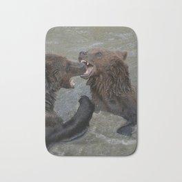Bear Water Fight Bath Mat