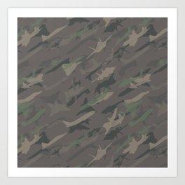 Aviation Cammo Pattern Art Print