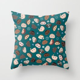 A Mix of Androids Throw Pillow