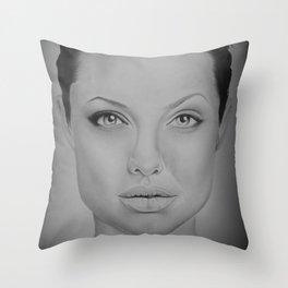 Angelina Jolie Throw Pillow