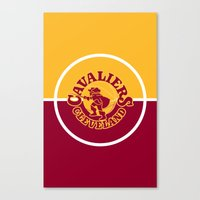 lebron Canvas Prints featuring Cavaliers All In C by DeBUM