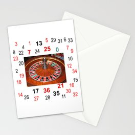 Roulette wheel casino gaming design Stationery Cards
