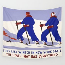 Vintage poster - New York Wall Tapestry