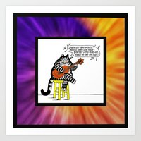 KLIBAN CAT SINGING  Art Print
