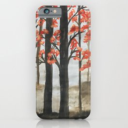 Misty forest - Autumn beauty iPhone Case