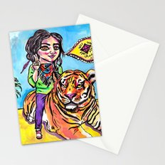 Charmed Tiger Stationery Cards