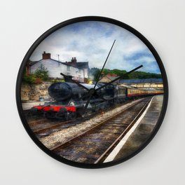 Steam Train Journey Wall Clock