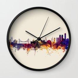 Istanbul Turkey Skyline Wall Clock