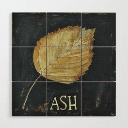 Hand-Painted Fall Ash Leaf Wood Wall Art